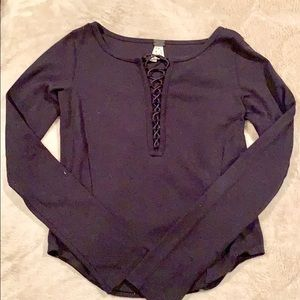 NWT Free People Lace Up Top